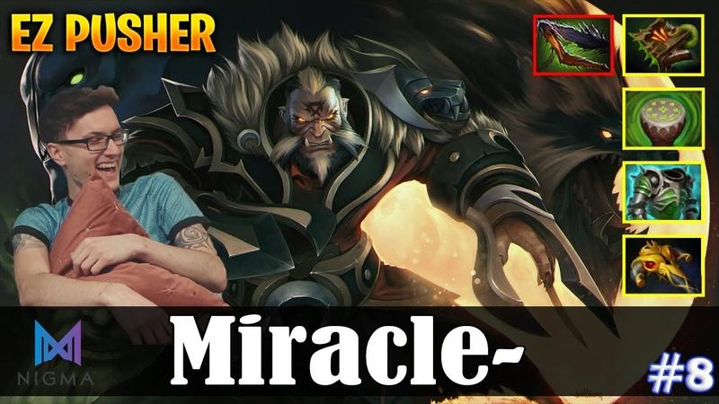 Miracle Lycan Safelane EZ PUSHER Dota 2 Pro MMR Gameplay 8