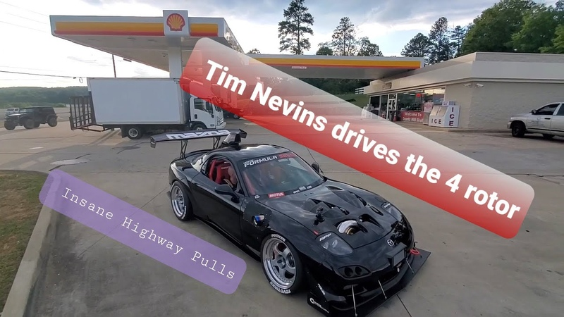 REACTION best mechanic friend drives The 4 Rotor Turbo Sequential RX7 on 12psi gives his review!