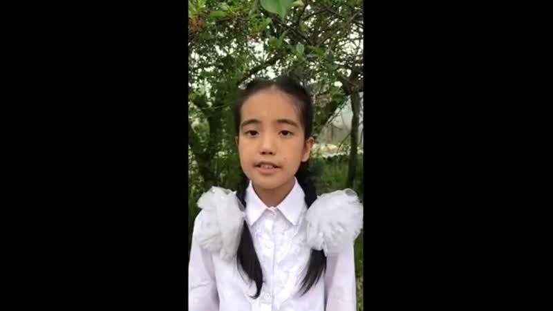 Республика Кыргызстан дети читают военные стихи С Кадашников Ветер войны Читает Сулайманова Анеля Военные стихи