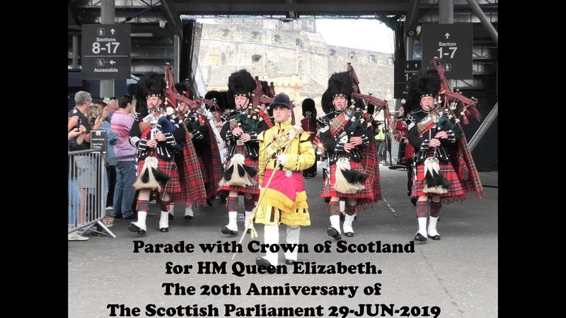 20th anniversary Scottish Parliament Escort to the Crown Scots Guards Royal Mile 2019 4K UHD