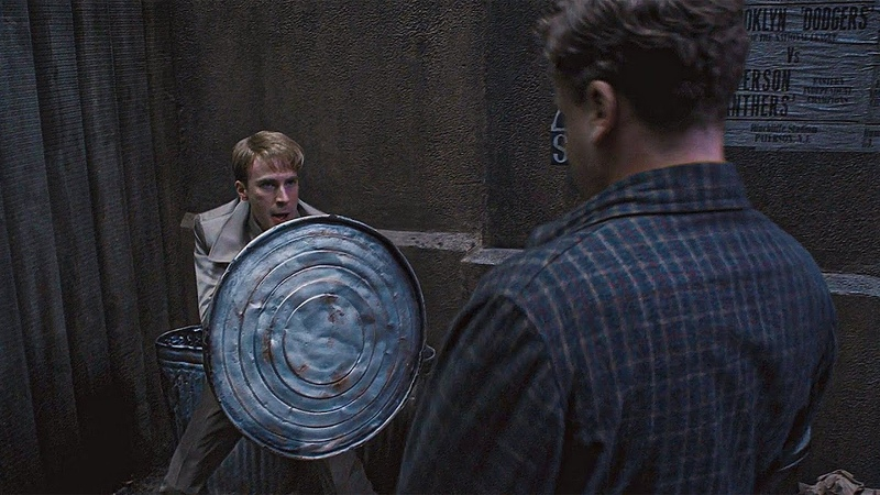 Баки Барнс спасает Стива Роджерса Первый мститель 2011