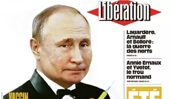 Французская газета поместила на обложку Путина в костюме Бонда
