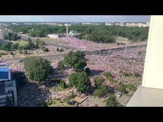 Свежее видео со стелы, Минск, Беларусь.