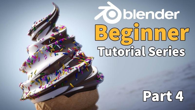 Blender 2.8 Beginner Tutorial - Part 4 Easy Node Materials