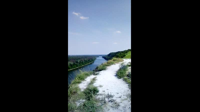 Белогорье р Дон вид с меловых гор Поклонный Крест