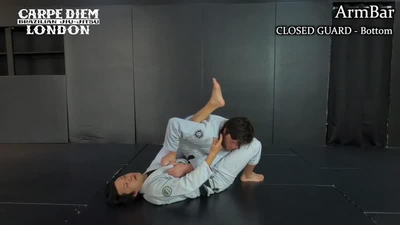 White Belt Programme Episode 2 Pendulum Sweep Armlock Reverse Armbar ¦ Closed Guard Bottom
