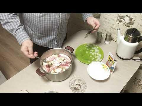 грудинка в луковой шелухе pork belly in onion in Zwiebelschalen
