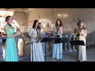 "Saxophone quartet ISaxBand - ""Flower duet"""