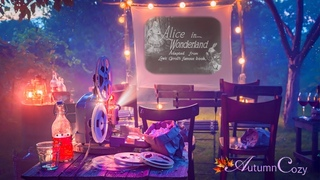 🍿📽BACKYARD SILENT FILM AMBIENCE: Summer Night Sounds, Glugging Sounds, Film Projector