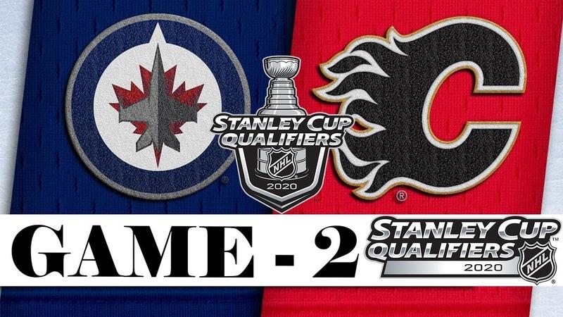 Winnipeg Jets vs Calgary Flames Aug 03 2020 Best of 5 Game 2 NHL 2019 20 Обзор