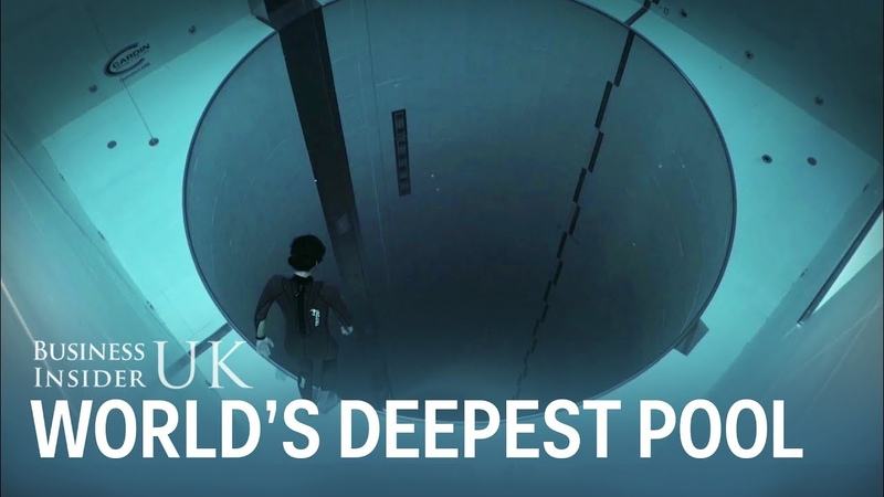A French freediver just dropped 40 metres to the bottom of the worlds deepest pool in one breath