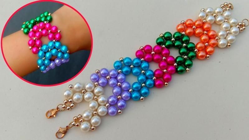 Making Of Beaded Bracelet Cuff Bracelet Useful Easy