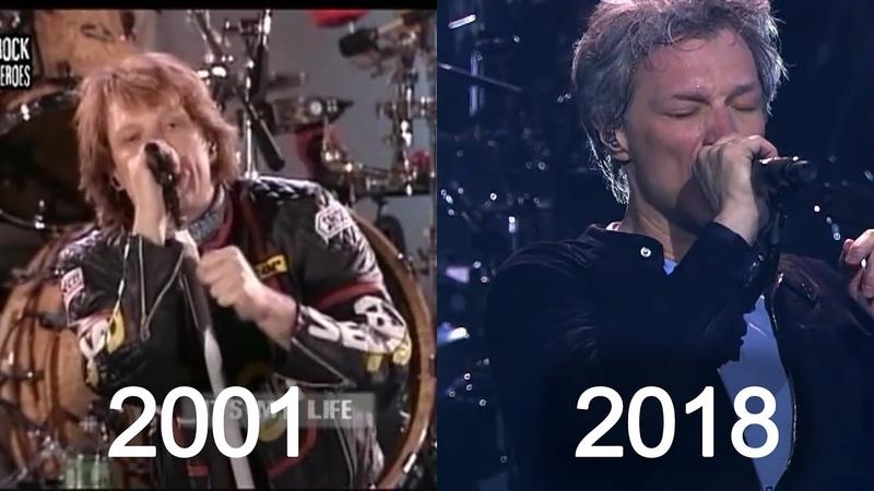 Bon Jovi It's My Life Through The Years 2000 2018