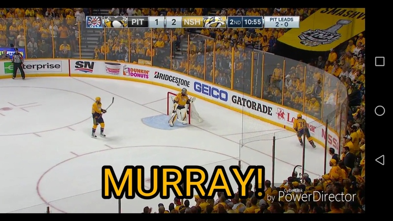 Nashville Predators VS Pittsburgh Penguins Fans goes crazy and sings Murray you suck Substitles