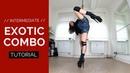 Tutorial: Intermediate Exotic Pole Dance Combo (fan kick turn kick slide down)