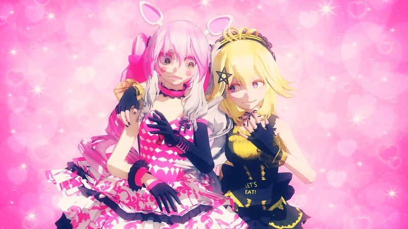 Fnaf mmd Notice me Senpai Mangle X Chica 1080p60fps