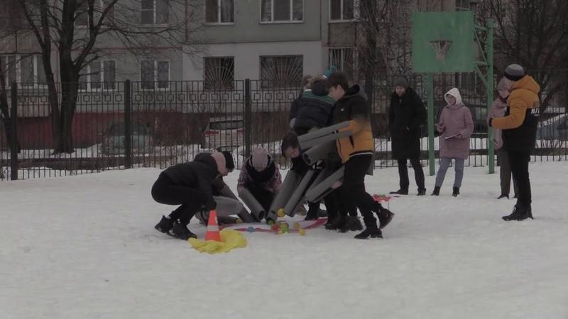 Тактическая полоса препятствий в рамках патриотического фестиваля Виват Россия МБОУЦО №25