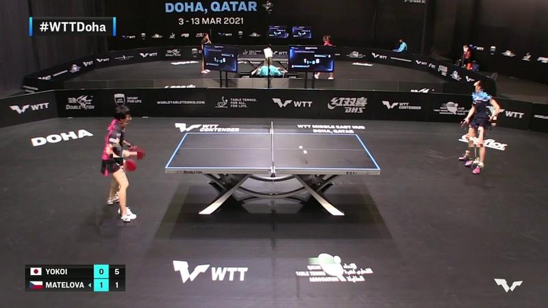 Sakura Yokoi vs Hana Matelova   WTT Contender Doha 2021   Womens Singles   QUAL Highlights