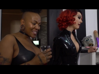 Mistress T, Miss Jasmine,  Samantha Mack, Evilyn 13, Skylar Heart - Goddess Party 2017 Ass Fucking Latex Gimp