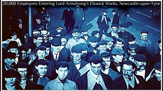 20,000 Employees Entering Lord Armstrong's Elswick Works, Newcastle-upon-Tyne