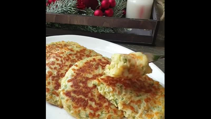 Сырные лепёшки на сковороде за 15 мин