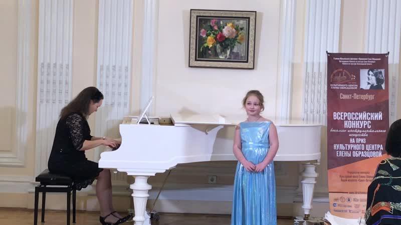 Лугом iду коня веду Укр народная песня Полина Гукк 8лет