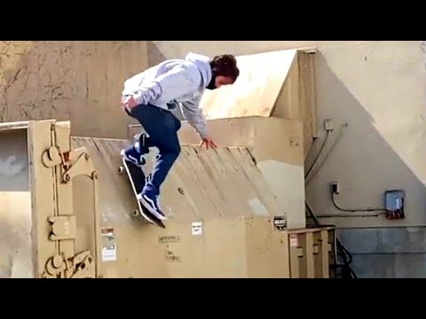INSTABLAST IMPOSSIBLE noseslide bs 360 nosegrab to 5 0 TONY HAWK does a kickflip dumpster dive