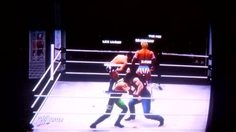 WWE 13 Zack Ryder Miz Bradshaw vs X Pack Lex Luger RoadDog.11DeadFace