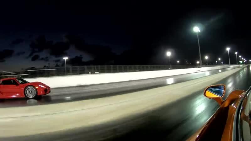 HYPER VS SUPER CAR BATTLE Porsche 918 Spyder vs McLaren 720S 1 4 Mile Drag Racing