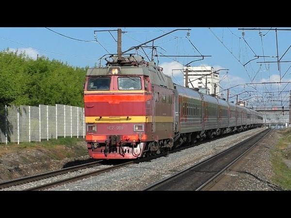 Нетронутый PID ом ЧС2Т 969 со скорым поездом Орск Москва