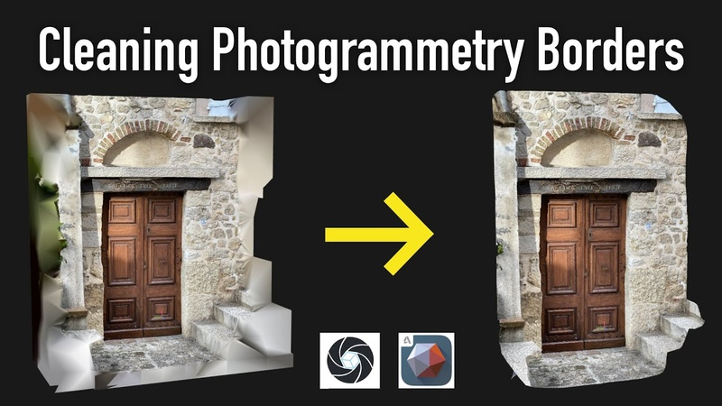 Cleaning Photogrammetry Borders RealityCapture Mesh Mixer