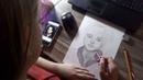 🎨Работа карандашами под формат А 4 / Портрет Сергея Друзьяк / София Балабатько /23.02.2021г.