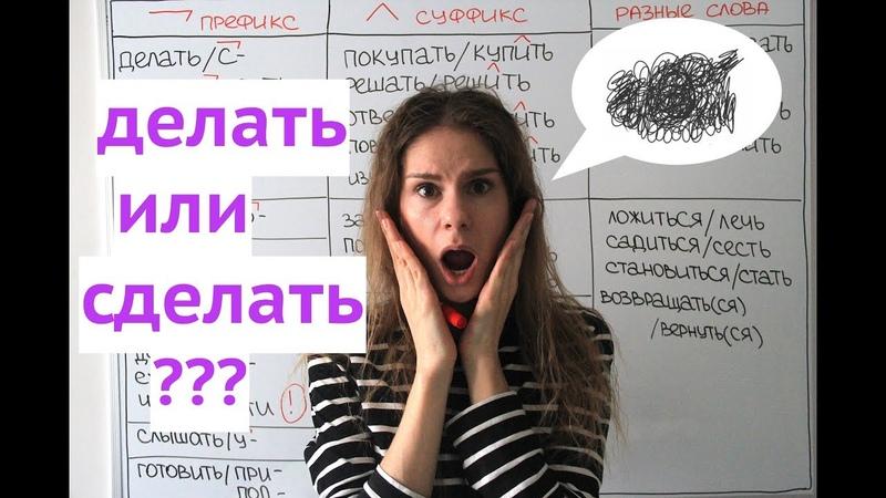 Урок 1 Делать или сделать Глаголы НСВ и СВ Настоящее прошедшее время