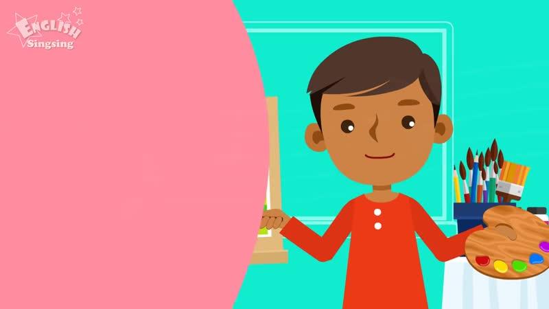 Kids vocabulary School Subjects favorite subject English educational video 720p mp4