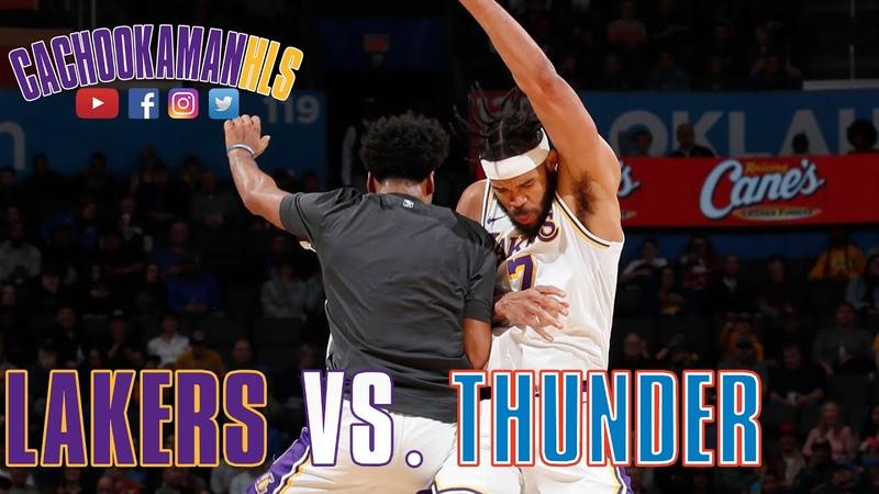 JaVale McGee Statue Of Liberty Dunk - Lakers vs. Thunder - January 11, 2020