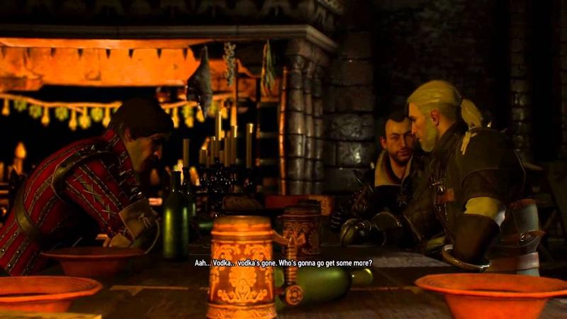 Witcher 3 Kaer Morhen DRUNK Geralt Lambert Eskel FUNNY SHIT