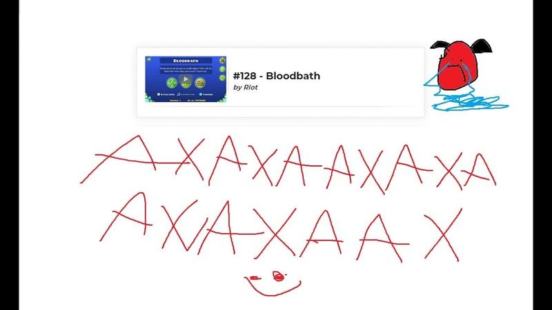 Bloodbath 100% Extreme Demon fluke from 41 lol