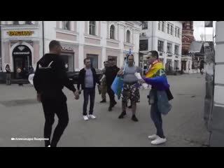 """Ярославль ..Одиночный пикет """"Геи тоже служат в ВДВ"""""""
