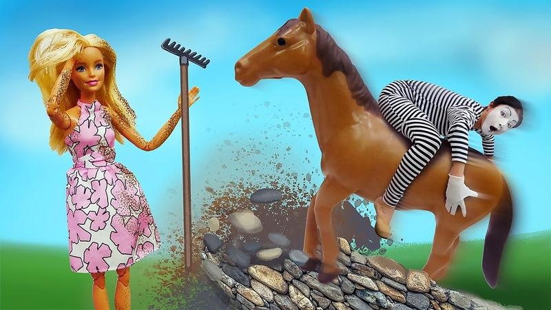 Video e giochi divertenti Mima e Barbie alla fattoria Nuovi episodi