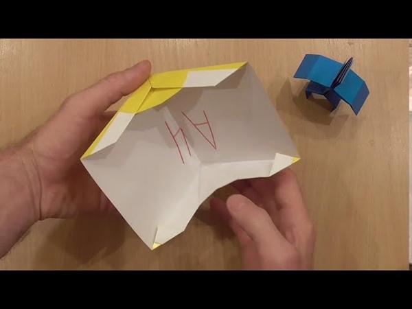 Палатка из бумаги для человечка Paper tent for a man