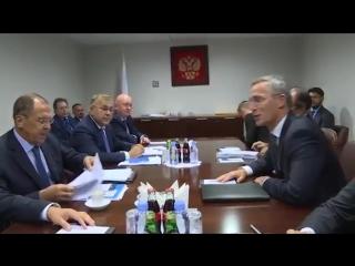 Встреча С.В.Лаврова с Генеральным секретарем НАТО Й.Столтенбергом, Нью-Йорк, 25 сентября