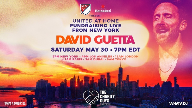 David Guetta United at Home Fundraising Live from NYC UnitedatHome StayHome WithMe
