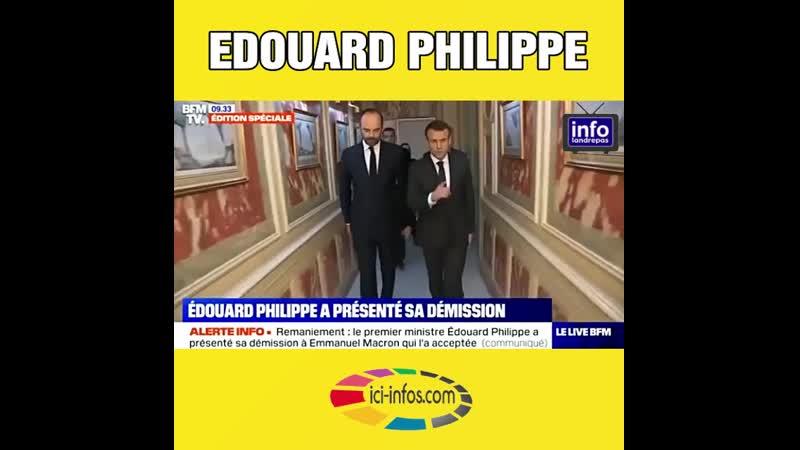Edouard Philippe a présenté sa démission
