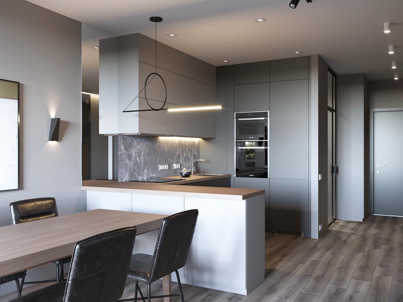 Кухня-гостиная 33 м.