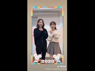 [SNS] 200125 Vivi, Yves – Happy Lunar New Year 2020  TikTok