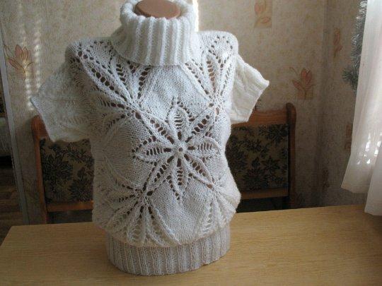 "Пуловер ""Морозный узор"""