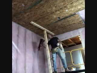 Подшил потолок из ОСБ в одного - Заметки строителя