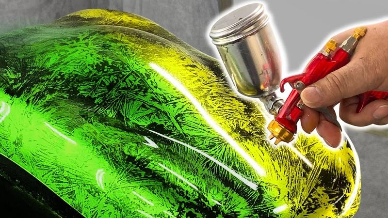 【 カスタムペイント 】クリスタルパターンの塗装方法 & キャンディー塗装・ミュータントクリスタルZ・クリスタルFXを再現