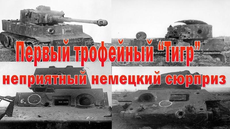 Первый обстрел трофейного Тигра а так же обстрел советских танков из его орудия Тревожные итоги