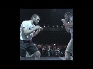 Абубакар Нурмагомедов на открытой тренировке перед UFC Москва